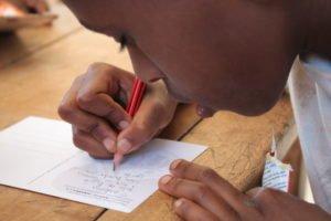 Briefe zwischen den Kindern und den Sponsoren